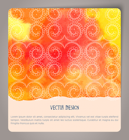 business card design: Abstract hand drawn watercolor cards. Vector illustration