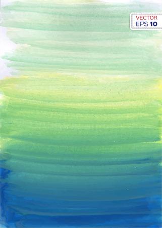 抽象的な手には、水彩の背景が描画されます。ベクトルの図。