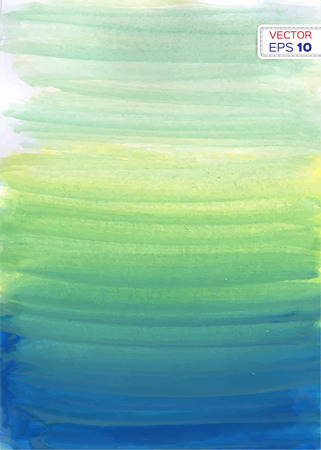aquamarine: Abstract hand drawn watercolor background. Vector illustration.
