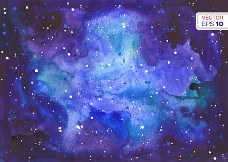 Abstract hand getekende aquarel achtergrond. Vector illustratie.