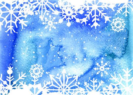hand drawn: Hand drawn watercolor christmas card. Vector illustration. Illustration