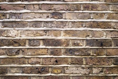 cemento: Fragmento de un viejo fondo de la pared de ladrillo. Foto de archivo