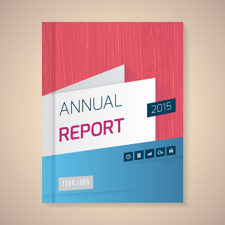 page: Cover Annual Report numbers 2015,  vector illustration