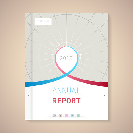 Cover Annual Report numbers 2015,  vector illustration