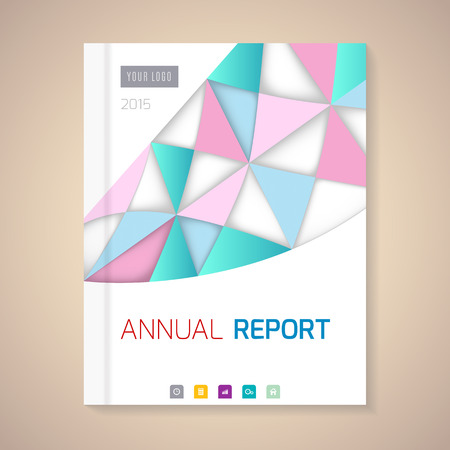 book cover design: Cover Annual Report numbers 2015,  vector illustration