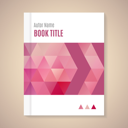 magazine: Polygonal vector design template layout for book title