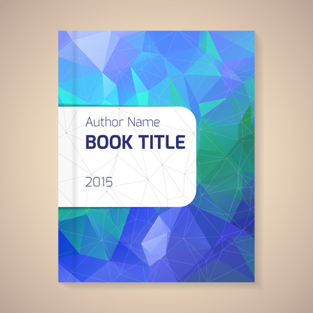 brochure cover: Polygonal vector design template layout for book title