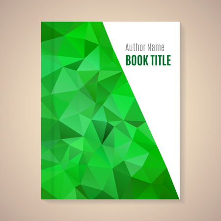 blank template: Polygonal vector design template layout for book title