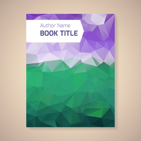 book design: Polygonal vector design template layout for book title