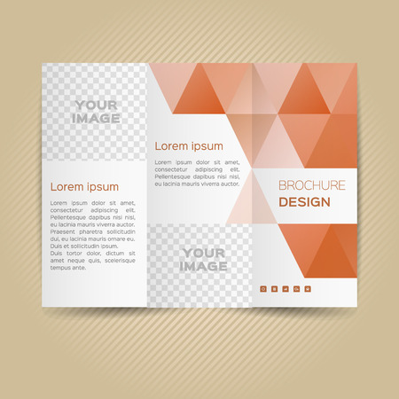 layout design template: Polygonal design template layout for leaflet