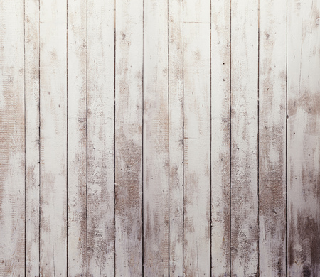 wood floor: Old white wooden board background, plank with texture, empty copy space