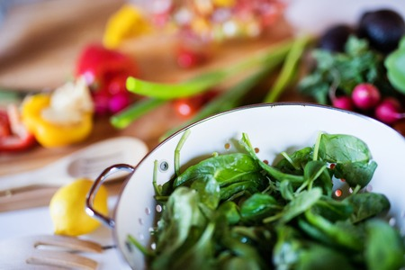 Fresh vegetables on the table. Stock Photo
