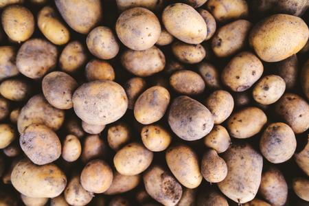 Close up of fresh potatoes.