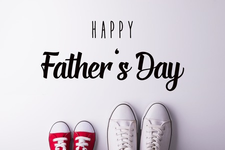 Fathers day greeting card concept. Flat lay. Stockfoto - 102505673
