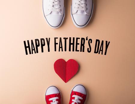 Concepto de tarjeta de felicitación del día del padre. Endecha plana.
