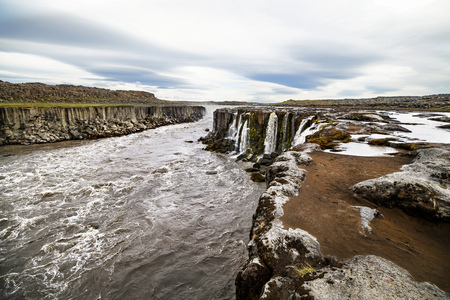 A river in a beautiful Iceland landscape in summer, Europe. Stock fotó