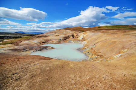 A beautiful Iceland landscape with a lake in summer, Europe.