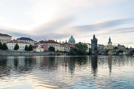 Panorama city skyline in Prague, Czech Republic.