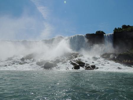niagara falls: Niagara Falls from Canadian side Stock Photo