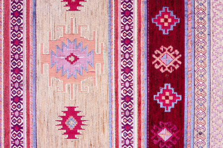 kilim: Traditional bosnian carpet texture detail