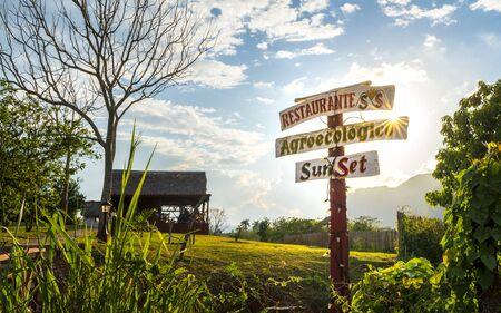 Vinales, Cuba - March 26 2019: Restaurant, UNESCO, Vinales, Pinar del Rio Province, Cuba, West Indies, Caribbean, Central America