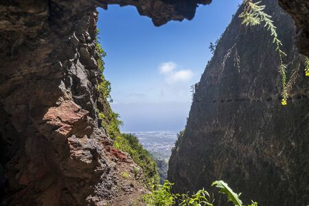 Windows of the Guimar (thousand windows hike) at Tenerife, Canary Islands, Spain, Europe,