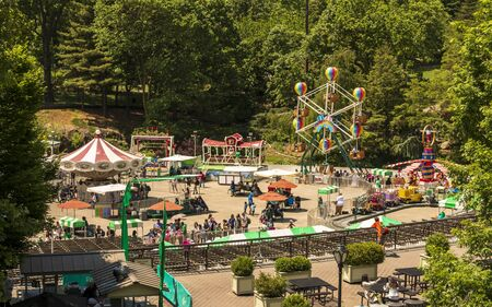 New York, USA - May 19 2015: Fair at Central Park, New York City, Manhattan, United States of America, North America Stock Photo - 128536567