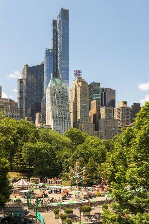 New York, USA - May 19 2015: New York skyline from Central Park, New York City, Manhattan, United States of America, North America Stock Photo - 128536568