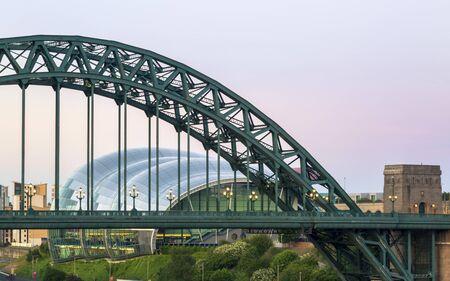 Tyne Bridge sand Sage Gateshead, Newcastle, England, United Kingdom Europe