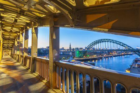 High Level bridge, River Tyne, The Swing Bridge and Tyne Bridge, Newcastle and Gateshead, Tyne and Wear, England, United Kingdom, Europe