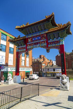Newcastle, England - June 27 2018: Entarance to Chinatown, Newcastle Upon Tyne, Tyne and Wear, England, United Kingdom Europe Editorial