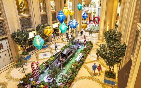 Las Vegas, USA - May 24 2018: Inside The Grand Canal Shoppes, The Strip, Las Vegas Boulevard, Las Vegas, Nevada, United States of America, North America