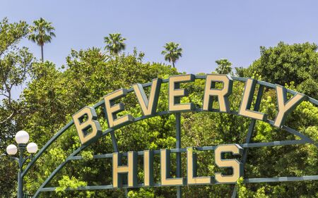 Beverly Hills, USA - May 28 2018: Beverly Hills sign, Beverly Hills, Los Angeles, California, United States of America, North America