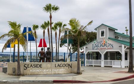 Los Angeles, USA - May 31 2018: Seaside Lagoon, Redondo Beach, California, United States of America, North America