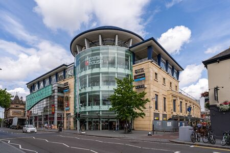 Nottingham, UK - August 07, 2019: View of the Corner House in the city centre of Nottingham, major economic and cultural landmark in the East Midlands region of the UK.