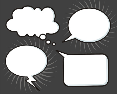 comic speech bubbles Stock Vector - 16850935
