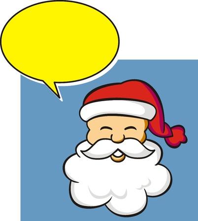 halfone: santa claus with bubble speech
