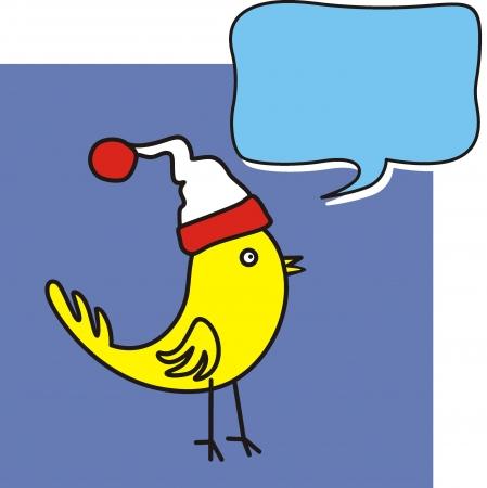 bird with bubble speech Stock Vector - 16918480
