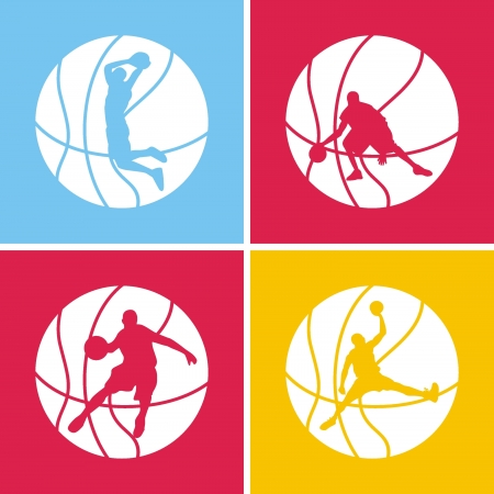 silhouette of a basketball Stock Vector - 16918479