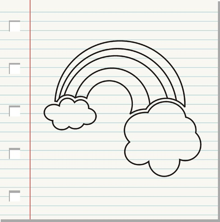 cloudy weather doodle -  illustration Stock Vector - 16941430