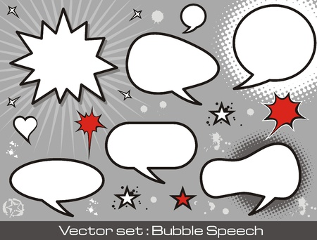 A collection of comic style speech bubbles. Stock Vector - 16963574