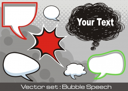A collection of comic style speech bubbles. Stock Vector - 16963573