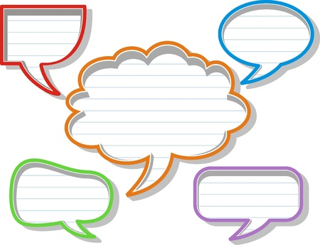 A collection of comic style speech bubbles. Stock Vector - 16963569