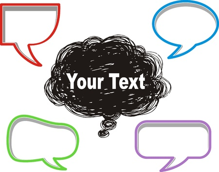 A collection of comic style speech bubbles. Stock Vector - 16963572