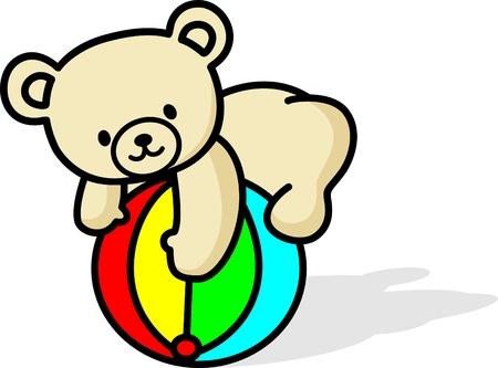 Glückliche Teddybär Standard-Bild - 17456868