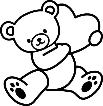 Toys - Teddy bear Vector