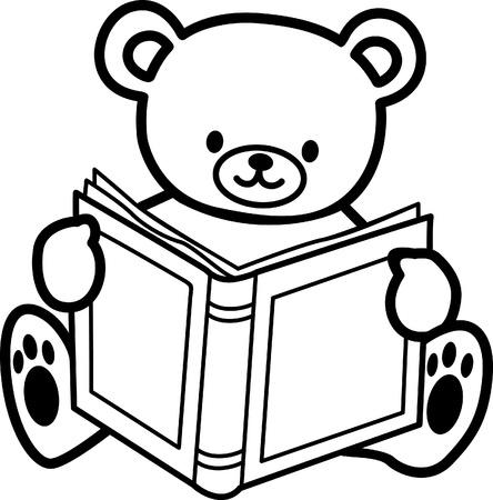 coloring  Teddy bear Vector