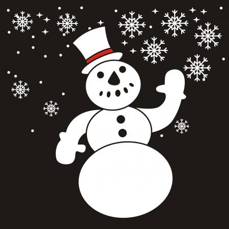 snowman  Vector illustration Stock Vector - 17456844