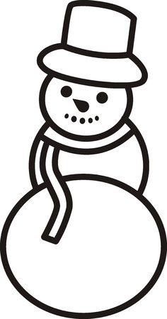 snowman  Vector illustration   Stock Vector - 17456817
