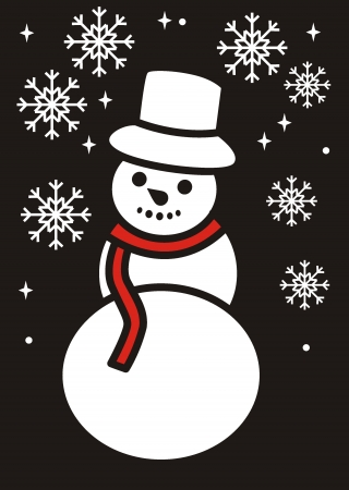 snowman  Vector illustration   Stock Vector - 17456841